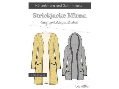 Papier-Schnittmuster Fadenkäfer Minna Strickjacke Damen