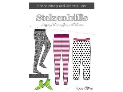 Papier-Schnittmuster Fadenkäfer Stelzenhülle Legging und Socken Mädchen und Junge