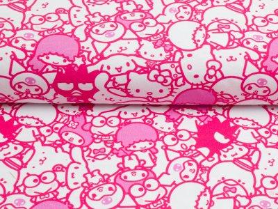"""Jersey """"Hello Kitty & Friends""""Friends 2 pink"""