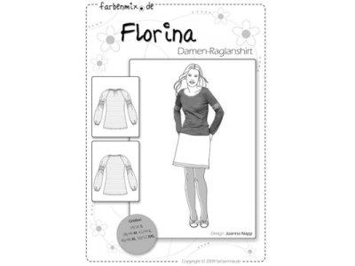 Schnittmuster FLORINA Damen-Raglanshirt Farbenmix