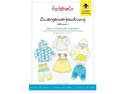 Papierschnittmuster Farbenmix Zwergenverpackung Volume 1  - Baby