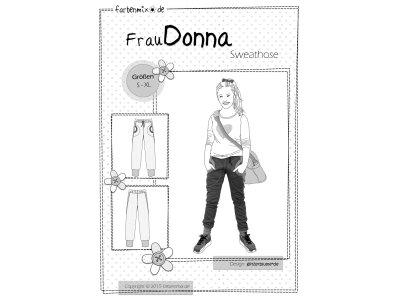 Papierschnittmuster Farbenmix Sweathose Frau DONNA - Mädchen