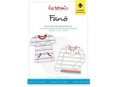 Papierschnittmuster Farbenmix Basic - Shirt FANÖ - Damen