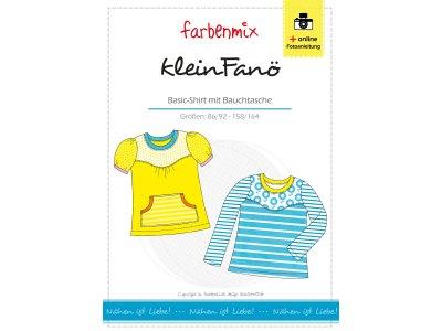 Papierschnittmuster Farbenmix Basic - Shirt klein FANÖ - Mädchen