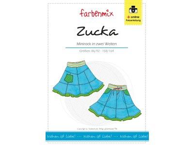 Papierschnittmuster Farbenmix Minirock ZUCKA - Mädchen
