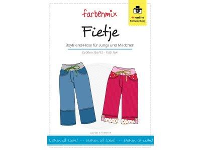 Papierschnittmuster Farbenmix Boyfriend - Hose FIETJE Jungs und  Mädchen