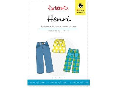 Papierschnittmuster Farbenmix Basicjeans HENRI- Jungs und  Mädchen