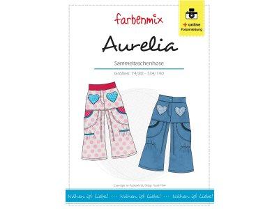Papierschnittmuster Farbenmix Sammeltaschenhose AURELIA - Mädchen