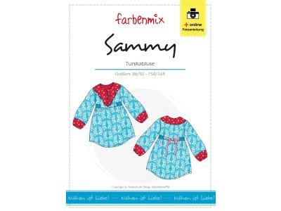 Papierschnittmuster Farbenmix Tunikabluse SAMMY - Mädchen