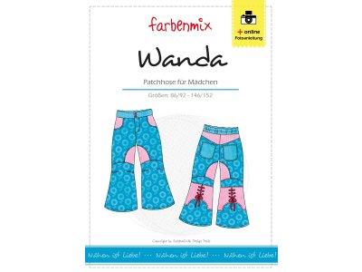 Papierschnittmuster Farbenmix Patchhose WANDA - Mädchen