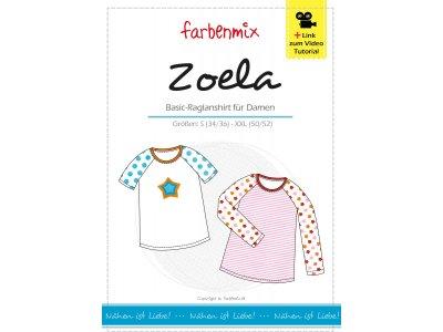 Papier-Schnittmuster Farbenmix - Raglan-Shirt  ZOELA - Damen