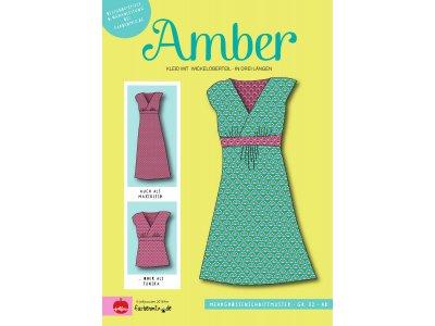 Papier-Schnittmuster Farbenmix - AMBER Kleid mit Wickeloptik - Damen