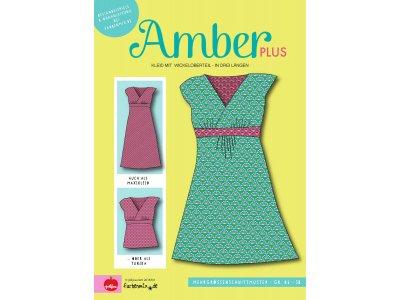 Papier-Schnittmuster Farbenmix - AMBER PLUS Kleid mit Wickeloptik - Damen