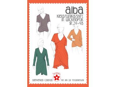 Papier-Schnittmuster Farbenmix - ALBA Kleid/Shirt in Wickeloptik - Damen