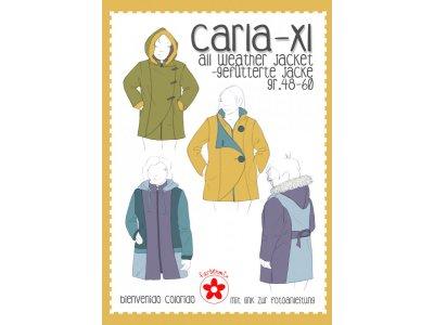 Papier-Schnittmuster Farbenmix - CARLA-XL  Allwetter-Jacke - Damen