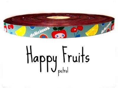"""Webband """"Happy Fruits"""" petrol"""