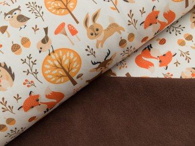 Softshell - Fräulein von Julie - Waldtiere - creme-orange-braun
