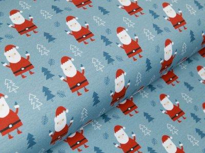 Sweat Fench Terry Fräulein von Julie - Weihnachtsbäume und Tannenbäume - indigoblau