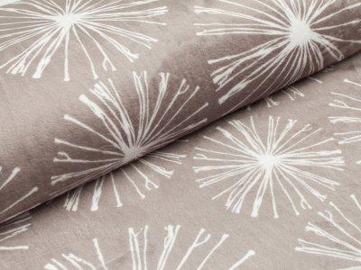 Cuddle® Shannon Fabrics Hochwertiger Microfaser Soft Plüsch Spakler grau-weiß