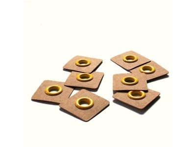 Aufnäh-Ösen auf SnapPap 8mm 4 Stück - uni gelb