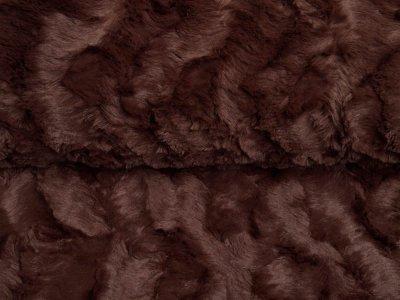 Zottel-Wellnessfleece Fur - Wellenoptik - uni braun