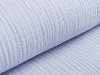 Musselin Baumwolle Triple Gauze - uni helles blau