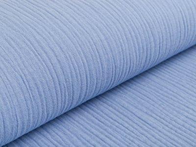 Musselin Baumwolle Triple Gauze - uni eisblau