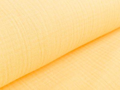 Musselin Baumwolle Triple Gauze - uni sonnengelb