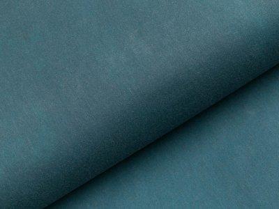 Oilskin gewachste Baumwolle -  uni jeansblau