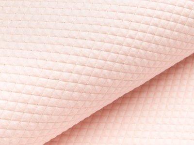 Doubleface Jersey Rautenstepper Quilt mit Lurexglitzer - uni helles rosa