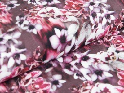 Viskose-Jersey Digitaldruck - Orchideen - braun