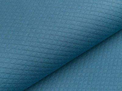 Jersey Rautenstepper - uni jeansblau