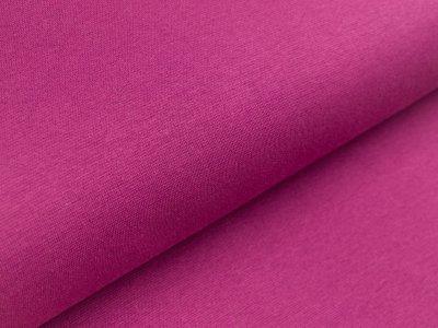 Glattes Bündchen im Schlauch - uni lila