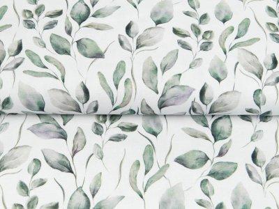 Canvas Digitaldruck - Blätter - wollweiß
