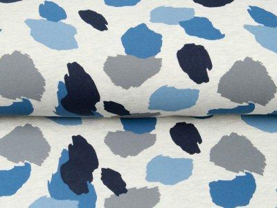 Leicht angerauter Sweat Melange Softtouch by Poppy - Camouflage - meliert ecru