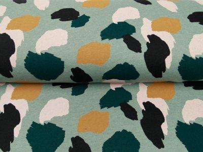 Leicht angerauter Sweat Melange Softtouch by Poppy - Camouflage - meliert mint