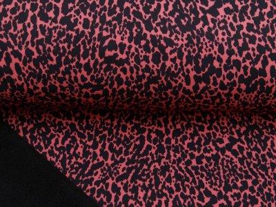 Jackenstoff Softshell Digitaldruck by Poppy - Animalprint - dunkle koralle
