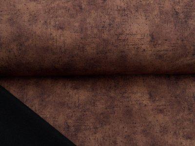 Jackenstoff Softshell Digitaldruck by Poppy - Kratzoptik - braun