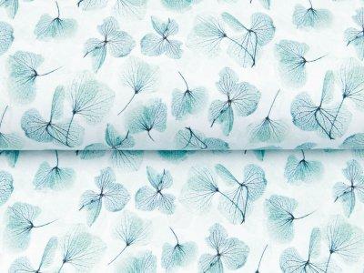 Sweat French Terry Digitaldruck by Poppy - Aquarelle Blätter - wollweiß