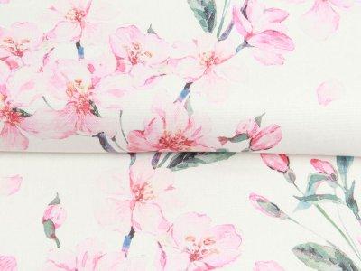 Canvas Digitaldruck - hübsche Blüten - wollweiß