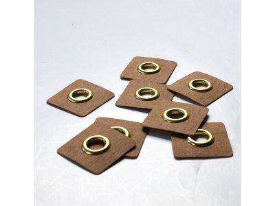 Aufnäh-Ösen auf SnapPap 8mm 4 Stück - uni gold