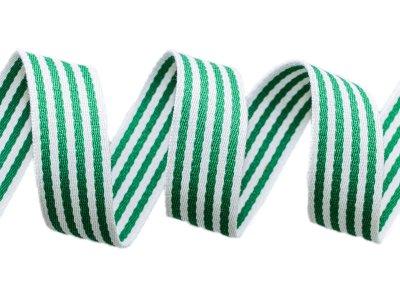 Gurtband ca. 40 mm - Streifen - weiß/grün