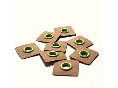 Aufnäh-Ösen auf SnapPap 8mm 4 Stück - uni grün