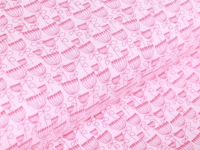 Jersey - Hauben-Blumen - rosa