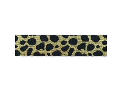 Gummiband ca. 40 mm - Animalprint-Gepard  - gold