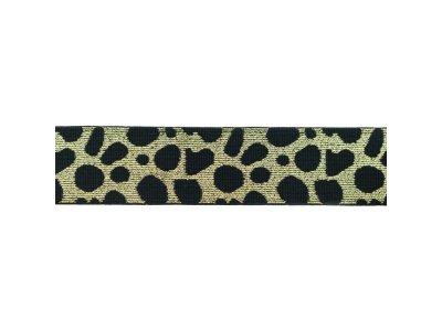Gummiband ca. 40 mm - Animalprint-Gepard  - helles goldfarben