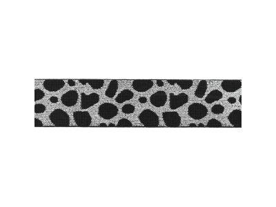 Gummiband ca. 40 mm - Animalprint-Gepard - silberfarben