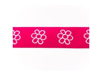 Gummiband ca. 40 mm - Blümchen - pink