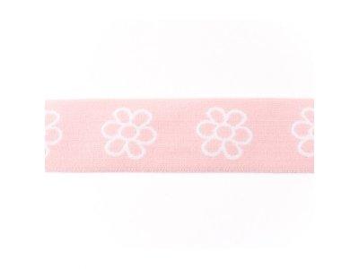 Gummiband ca. 40 mm - Blümchen - rosa