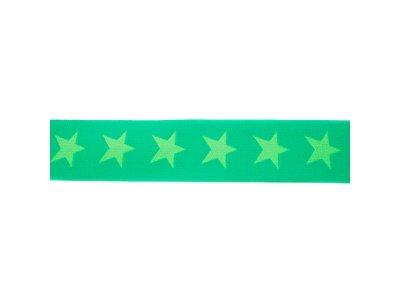 Gummiband ca. 40 mm - Sterne - apfel/dunkle lime